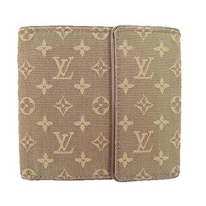ルイヴィトン 三つ折り財布 モノグラムミニ ポルトビエカルトクレディ M92440 カーキ