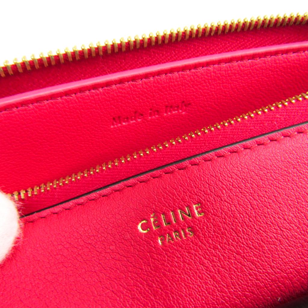 セリーヌ(Celine) Clutch with Flap Pocket 103383UAB.25DF レディース レザー クラッチバッグ ブラック,ライトベージュ,ピンク