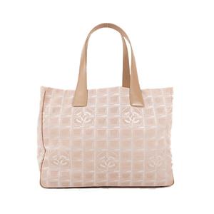 シャネル(Chanel)  トートバッグ  ニュートラベルライン トートMM 9番台 ベージュ【中古】バッグ