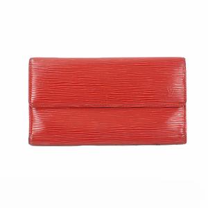 ルイ・ヴィトン(Louis Vuitton)  長財布(三つ折り)エピ ポルトフォイユインターナショナル M63387 カスティリアンレッド 【中古】ユニセックス