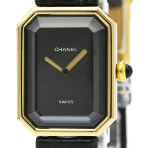 CHANEL Premiere 18K Gold Leather Quartz Ladies Watch H0090