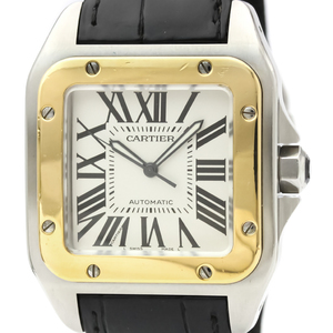 Cartier Santos 100 Automatic Stainless Steel,Yellow Gold (18K) Men's Dress Watch W20072X7