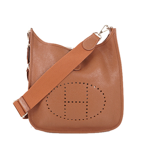Auth Hermes EvelyneⅢ PM Shoulder Bag Triyon Leather Noisette
