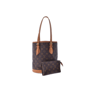 Used Louis Vuitton Monogram Bucket With S Pouch M42238