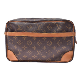 Louis Vuitton Monogram Clutch Compiegne 28 M51845 Unisex,Boys,Girls,Men,Women Clutch Bag Brown