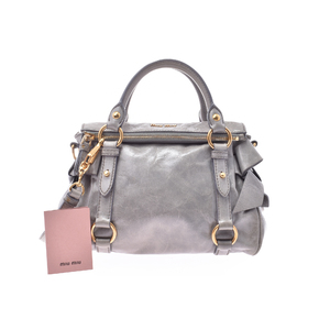 Miu Miu Leather Bag Light Gray