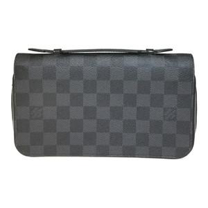 Auth Louis Vuitton Damier Graphite Zippy XL N41503 zippy XL Men's Long Wallet