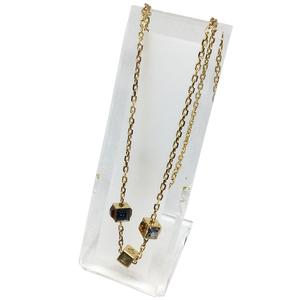 Auth Louis Vuitton M66999 Collier Gamble Pendant Necklace (Gold)