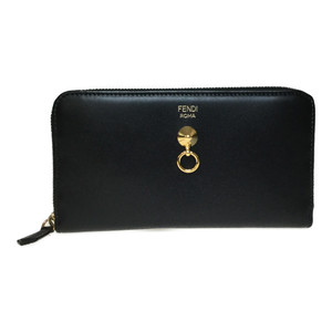 Fendi 8M0299 BY THE WAY Leather Long Wallet (bi-fold) Black