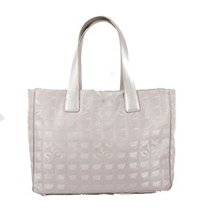 Auth Chanel New Travel Line  Canvas Glay