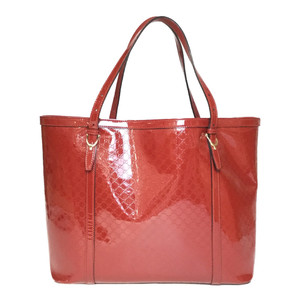 Auth Gucci MicroGuccissima 309613 Leather Tote Bag Red