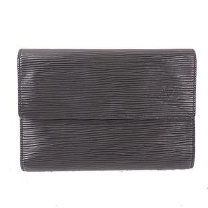 Auth Louis Vuitton Etui Papiers M63712 Noir
