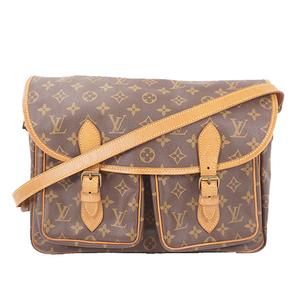 Auth Louis Vuitton Monogram M42249 Gibeciere GM Women's Shoulder Bag