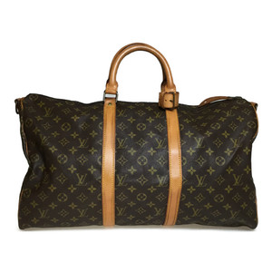 Auth Louis Vuitton Monogram M41416  Keopol Bandrière 50 Boston Bag
