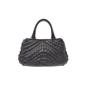 Bottega Veneta Intrecciato Leather Bag Black