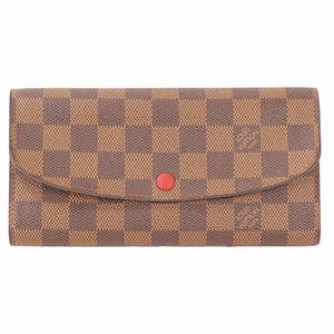 Auth Louis Vuitton Long Wallet (bi-fold) Damier Portefeuille Emily N63544