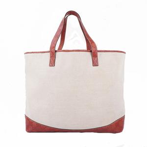 Gucci Guccissima 297435 Women's Canvas,Leather Handbag,Shoulder Bag,Tote Bag Ivory