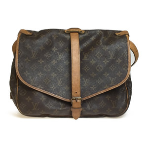 Auth Louis Vuitton Monogram M42254 Saumur 35 Shoulder Bag