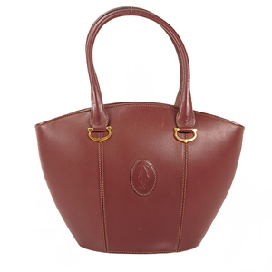 Cartier Must Women's Leather Handbag Bordeaux,Brown