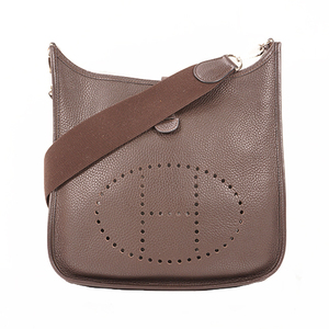Hermes  Evelyne Ⅰ □J刻印 Women's Taurillon Clemence Leather Shoulder Bag Chocolat