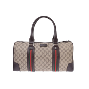 Gucci Sherry Line Canvas Bag Brown