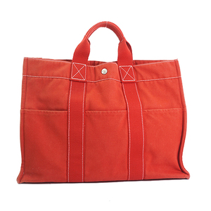 Hermes Fourre Tout  Unisex,Women,Men Canvas Handbag,Tote Bag Red