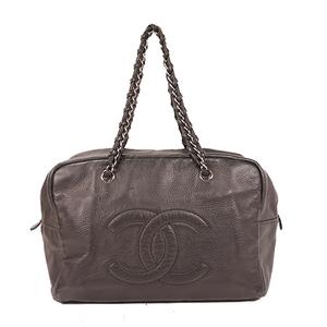Chanel チェーンショルダー Chain Shoulder Bag Women's Boston Bag,Shoulder Bag Black