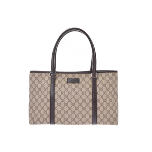 Gucci GG Canvas GGスプリーム PVC Bag Brown,Gray