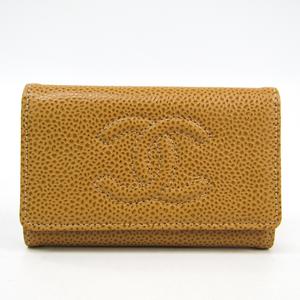 シャネル(Chanel) A13502 レディース キャビアスキン キーケース ベージュ