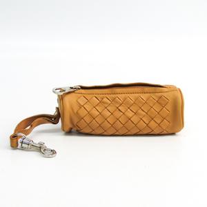 Bottega Veneta Intrecciato Unisex  Lamb Leather Coin Purse/coin Case Beige