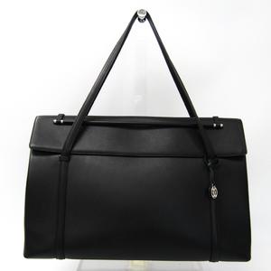 カルティエ(Cartier) カボション L1000631 ユニセックス レザー ハンドバッグ ブラック