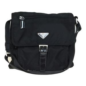 Auth Prada BT8994 Nylon Shoulder Bag Black