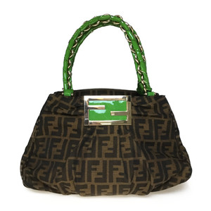 Fendi Zucca 8BR615 Chain Bag Brown/Green