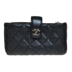 シャネル(Chanel) A48227 レザー ポーチ ブラック