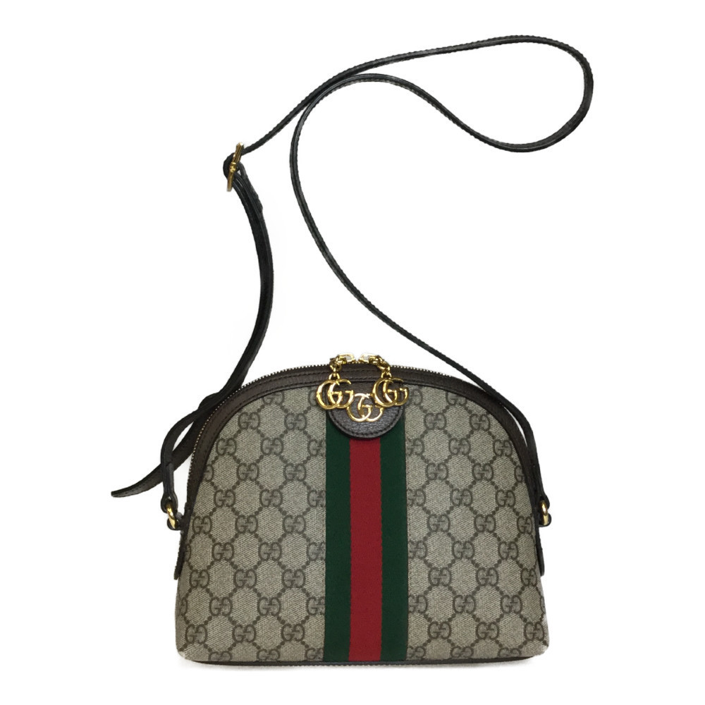 fabf32626 Auth Gucci 499621 GG Supreme Shoulder Bag Beige,Brown | eBay