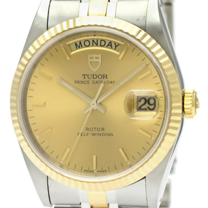 Tudor Prince Date Day Automatic Stainless Steel,Yellow Gold (18K) Men's Dress Watch 76213