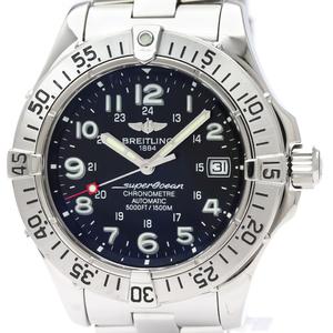 【BREITLING】ブライトリング スーパーオーシャン ステンレススチール 自動巻き メンズ 時計 A17360