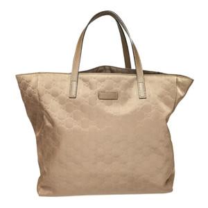 7143bc181 Auth Gucci 368824 Nylon Tote Bag Brown GG