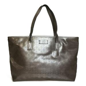 3bf3d2d6b Auth Gucci GG Imprimé 211137 Women's GG Imprimé Tote Bag Silver