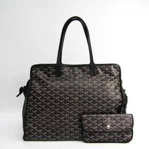 Goyard Le Chic Du Chien Hardy PM Leather,Canvas Tote Bag Black