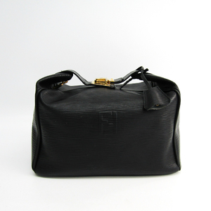 Fendi Women's Leather Vanity Bag Black