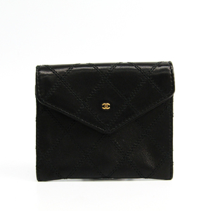 Chanel  Calfskin Coin Purse/coin Case Black