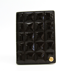 Chanel Chocolate Bar A17818 Leather Card Case Brown