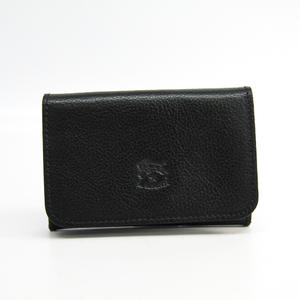 Il Bisonte 411620 Leather Business Card Case Black