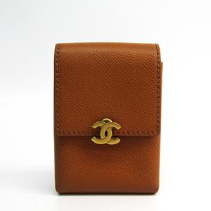 Chanel Cigarette Case Leather Brown