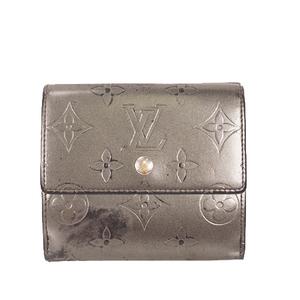 ルイヴィトン 三つ折り財布 モノグラムマット ポルトモネカルトクレディ M65112 ノワール