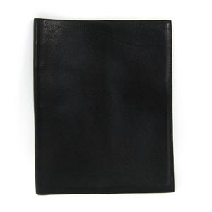 Hermes Fjord Leather Notebook Noir