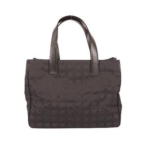 Chanel New Travel Line TotebagMM Women's Canvas Handbag,Tote Bag Black