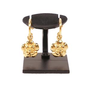 Chanel ピアス フラワー メッキ Half Hoop Earrings Gold