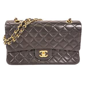 Chanel Matelasse Engine Women's Shoulder Bag Black